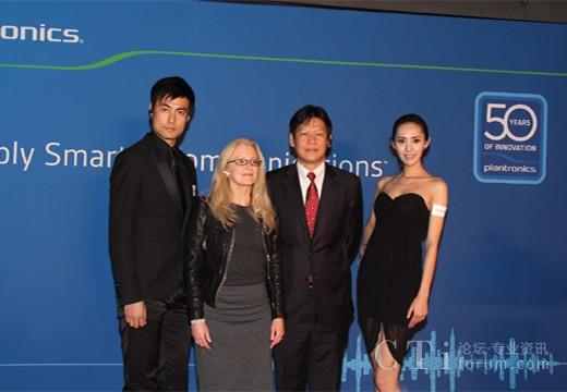 亚太区销售及市场副总裁Susan Hansen以及大中华区董事总经理陶海东先生与模特合影留念